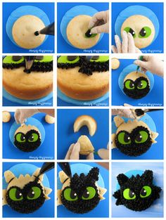 and Light Fury Cakes Learn how to make a simple Tootless Cake for your How To Train Your Dragon Party at .Learn how to make a simple Tootless Cake for your How To Train Your Dragon Party at . Dragon Birthday Cakes, Dragon Birthday Parties, Dragon Cakes, Dragon Party, 9th Birthday, Toothless Party, Toothless Cake, Bolo Cake, Dessert Cake Recipes