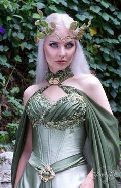 Elven Bridal Gown Model by http://Lillyxandra.deviantart.com on @DeviantArt
