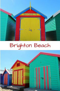Awesome things to do in Melbourne, Australia that will make you feel like a local- including visiting the beautiful, bright houses on Brighton Beach.