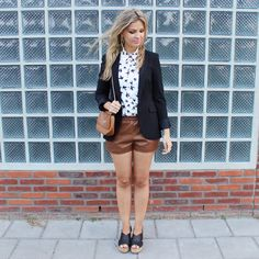 Your Outfit Today » Brown Leather Shorts