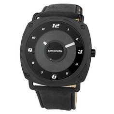 Reloj Lambretta modelo Brunori con caja de acero tratado con PVD Negro, esfera en color negro y correa de cuero negro  http://www.tutunca.es/reloj-brunori-pvd-negro