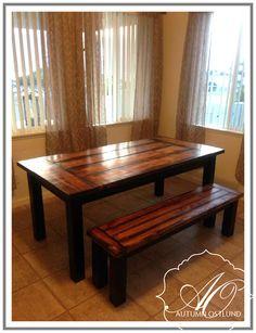 DIY straight leg farmhouse table.
