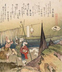 """The abalone shell"" 1821, by Katsushika Hokusai 葛飾北斎 (1760-1849)."