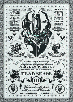 Dead Space - by Barrett Biggers Created for the Dead Space Art Show by Geek-Art Dead Space, Electronic Arts, Video X, Hot Video, Pokemon, Science Fiction, 3 Arts, Geek Art, Expo