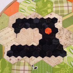 teeny hexie sewing machine, via Flickr.