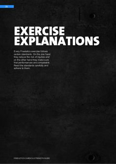 Boszorkánykonyha: Freeletics Cardio & Strenght: Exersises (Gyakorlatok)