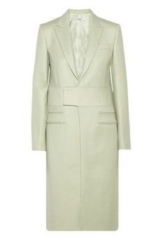 Givenchy Melton wool-blend coat with neoprene detail  | NET-A-PORTER