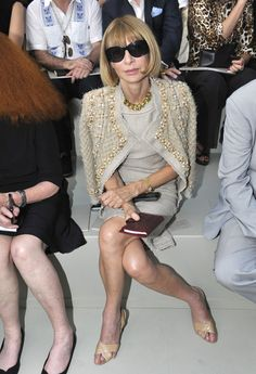 Anna Wintour rocking the mother of all statement jackets: Chanel. Wear yours casually thrown on your shoulders. Visit my website for finding your own savvy business style: www.ionimage.nl or find me on Facebook: https://www.facebook.com/IonImage