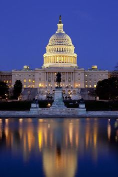 Washington, DC - Capitol building...night or day---I love this place. Nate and I have been a few times. So regal, so historical. Love the walk....May or November. Charming and beautiful.