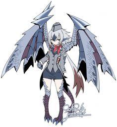 Monster Hunter Series, Monster Hunter Art, Monster Girl Encyclopedia, Hybrid Art, Anime Monsters, Fantasy Beasts, Dragon Girl, Monster Musume, Character Concept