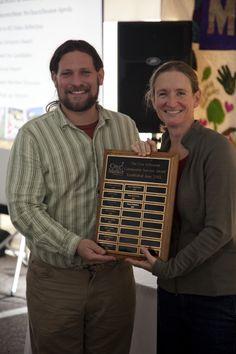 Jason Frishman of FolkFoods won the Don Schramm Award for 2013, Member Meeting 2013, City Market, Onion River Co-op, Photo by Charlie Ritzo, www.citymarket.coop/membership