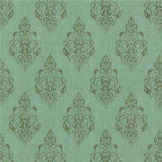 Soft Blue Damask Wallpaper