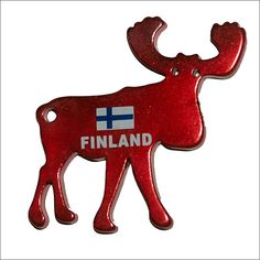 WANT!!!!!! Metal Fridge Magnet: Finland. Moose (Elk)