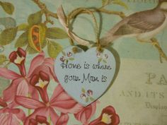 Mothers Day : Plaques by HeartyCrafts on Facebook. Bespoke personalised handmade wooden / mdf plaques - shabby chic - door plaques