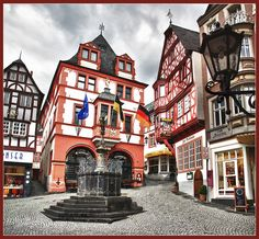 Visit the village of Bernkastel-Kues. Half-timbered houses crowd the streets and provide a fairy-tale atmosphere. Trek up the hill for a close-up look at the ruins of Landshut Castle, first built in 1277, then destroyed in 1692. Visit a family-owned vineyard for a wine-tasting and traditional German meal. The Kaiserslautern USO has a Mosel dinner and wine-tasting tour and Bernkastel-Kues orientation Saturday, April 20th.  (Photo by Bert Kaufmann)