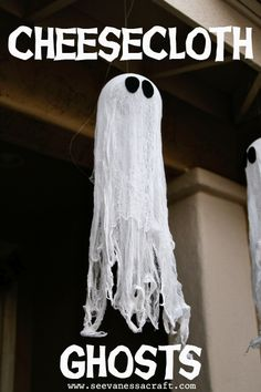 Cheesecloth Ghost Tutorial #halloween