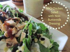 my scraps | BBQ Ranch Chicken Salad with Non-Buttermilk Ranch Dresing