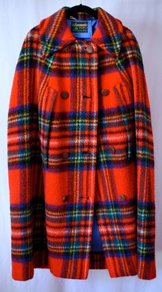 Little Red Riding Hood Plaid Cape by SofaKingCoolVintage on Etsy (Longer version of the one I found at a thrift store) Scottish Plaid, Scottish Tartans, Tartan Fashion, Red Riding Hood, Tartan Plaid, Tweed, My Style, Goth Style, Glamour