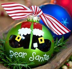Dear Santa Ornament by doodlebugsga on Etsy, $19.00