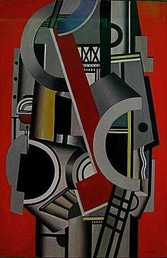 Composition aux Element Mecaniques, 1917, Fernand Leger Painting Stolen From Carlyle Hotel