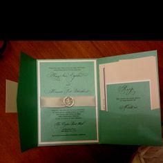 Tiffany Blue Wedding invites