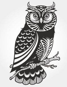Free Paper Cutting Patterns   Free Vector VIP > Pattern vector > Vector Case > Owl paper-cut vector via @4vector