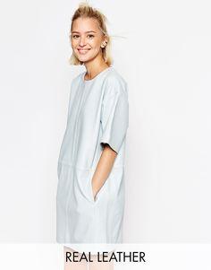 Image 1 ofASOS WHITE Leather Panel Dress