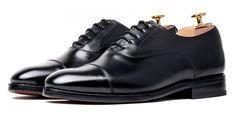 Zapato Oxford negro para hombre, zapato Oxford liso, zapato con horma inglesa…
