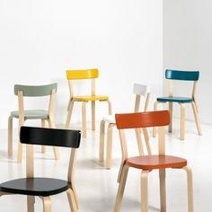 Aalto chair 69 by Artek in new colours.