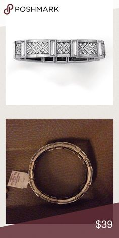 NWT Lia Sophia Art Deco Luxe Stretch Bracelet Gorgeous statement bracelet with stretch for a comfortable fit. Beautiful intricate detail make this simple piece very interesting and versatile. Lia Sophia Jewelry Bracelets