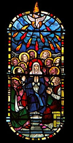 pentecost stained glass windows - Google Search