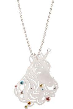 White Unicorn pendant