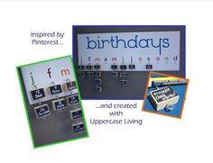 #birthday #board using #Uppercase #Living vinyl!