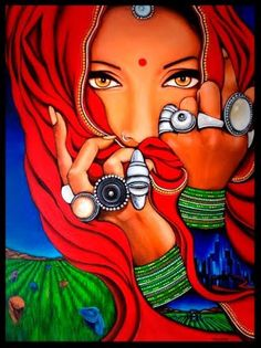Painters Women Painters Indian Painters Indian Artists Indian Painting Artists – Paint BakesYou can find Indian paintings and more on o. Modern Indian Art, Indian Folk Art, Indian Artist, Cherokee Indian Art, Indian Women Painting, Indian Art Paintings, Modern Art Paintings, Oil Paintings, Rajasthani Painting