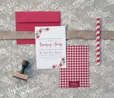 Stephanie Creekmur | A Paper Boutique Specializing In Personalization & Southern Charm: In the Studio | MBFW - Bridal Shower Invitations