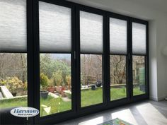 Brand new Anthracite Grey Perfect Fit Blinds compliment the most popular new shade of Bi-fold doors and Conservatories. - May 04 2019 at Curtains For Bifold Doors, Patio Door Blinds, Sliding Door Blinds, Blinds For Windows, Curtains With Blinds, Windows And Doors, Window Blinds, Closet Doors, Sliding Door Window Treatments