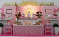 Buffet e salão de festas Mundo Mágico Princess Theme, Princess Castle, Princess Birthday, Crown Party, Baby Shower Decorations, Event Decor, Birthday Party Themes, Maria Clara, Minne