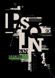 Desplegable tipográfico | FELICIDAD - Fanáticos de 1era by Sabrina Burgos, via Behance