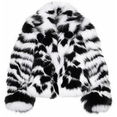 Versace Fox and patent-leather jacket ($16,930) ❤ liked on Polyvore featuring outerwear, jackets, coats, fur, coats & jackets, white, casual jackets, patent jacket, collar jacket and versace jacket