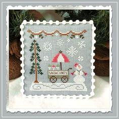 Cross Stitch Charts, Cross Stitch Patterns, Embroidery Patterns, Country Cottage Needleworks, Mill Hill Beads, Frozen Hot Chocolate, Needlework Shops, Snow Cones, Needle Case