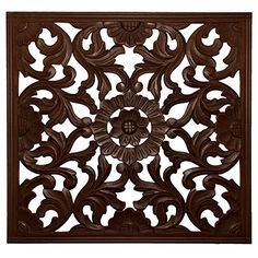 "Fetco Home Decor Zaria Handcrafted Square Wall Medallion, 36""/Large, Espresso Fetco Home Decor http://www.amazon.com/dp/B00YPAVWMG/ref=cm_sw_r_pi_dp_wiOWwb0YAC6R8"