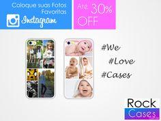 Personalize aqui sua case da maneira que preferir. Rápido e fácil! Vários Layouts para escolher. www.rockcase.com.br