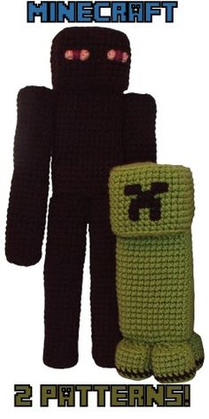 Minecraft Creeper and Enderman Patterns!