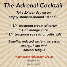 Fatigue remedies for men and women Adrenal cocktail