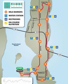The Jamestown Half Marathon is your opportunity to take a running tour around this gorgeous island. With views of the Pell Bridge historic windmills quaint sailing harbors and gorgeous marshlands this is a stunner of a course. Join us next Saturday 9/23 and we hope you love this course as much as we do.  LIMITED SPOTS LEFT in this years race.  www.RunRI.us