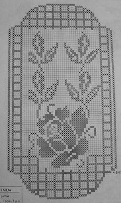 Kira scheme crochet: Scheme crochet no. Crochet Table Runner Pattern, Crochet Flower Patterns, Crochet Tablecloth, Embroidery Patterns, Cross Stitch Patterns, Embroidery Stitches, Filet Crochet Charts, Crochet Diagram, Crochet Motif