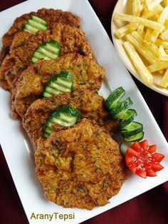 AranyTepsi: Karaj cukkinis bundában sütve Meat Recipes, Cooking Recipes, Hungarian Recipes, Hungarian Food, Just Eat It, Tandoori Chicken, Food Inspiration, Pork, Favorite Recipes