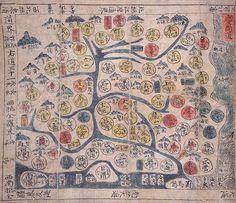 동국지도 중 경상도 , 18세기 - Gyeongsang Province Korea. 18th Century