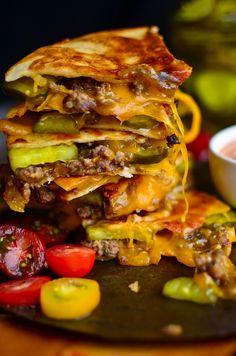 Yammie's Noshery: Cheeseburger Quesadillas