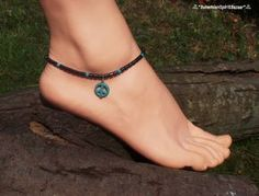 Hematite and Turquoise Peace Anklet, Hematite Ankle Bracelet, Gemstone Ankle Bracelet, Gemstone Anklet, Bohemian Anklet, Hippie Anklet by BohemianSpiritBazaar on Etsy https://www.etsy.com/ca/listing/537527861/hematite-and-turquoise-peace-anklet